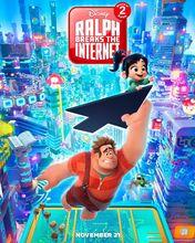 Plakat filmu Ralph demolka w Internecie