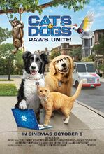 Movie poster Psy i koty 3: łapa w łapę